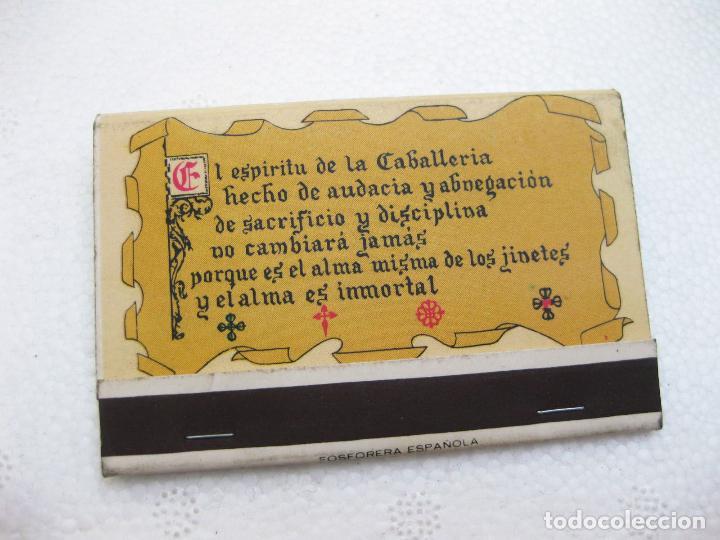 Cajas de Cerillas: CAJA DE CERILLAS DEL CUARTEL DEL REGIMIENTO LIGERO ACORAZADO DE CABALLERÍA MONTESA Nº 3 - Foto 3 - 96818335