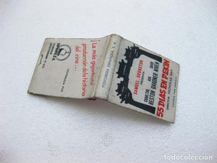 CAJA DE CERILLAS ESPAÑOLA PUBLICITARIA DE LA PELICULA 55 DIAS EN PEKIN (Coleccionismo - Objetos para Fumar - Cajas de Cerillas)