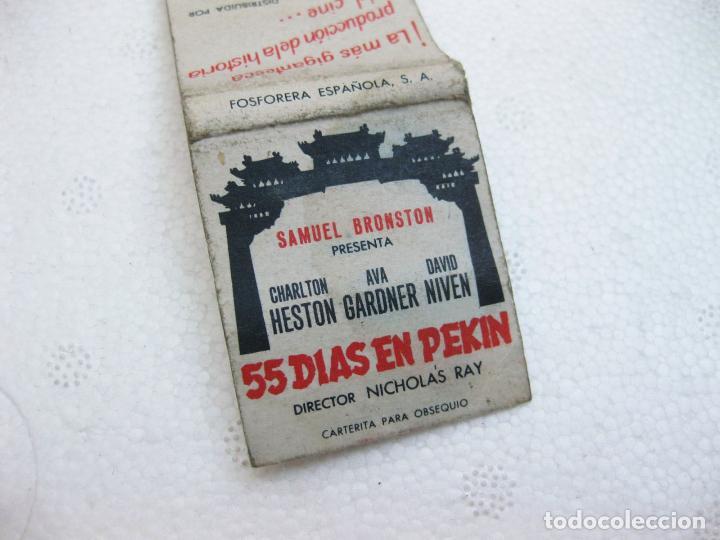 Cajas de Cerillas: CAJA DE CERILLAS ESPAÑOLA PUBLICITARIA DE LA PELICULA 55 DIAS EN PEKIN - Foto 3 - 96818467