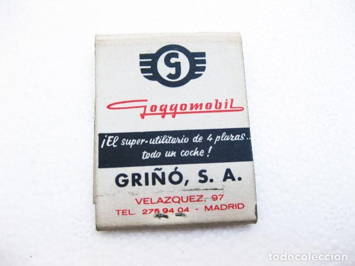 Cajas de Cerillas: CAJA DE CERILLAS ESPAÑOLA PUBLICITARIA DEL CONCESIONARIO GRIÑÓ - GOGGOMOVIL DKW Y PEUGEOT - Foto 2 - 96818763
