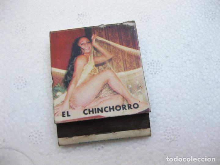 CAJA DE CERILLAS PUBLICITARIA DE CERVEZA SCHLITZ - EL CHINCHORRO (Coleccionismo - Objetos para Fumar - Cajas de Cerillas)