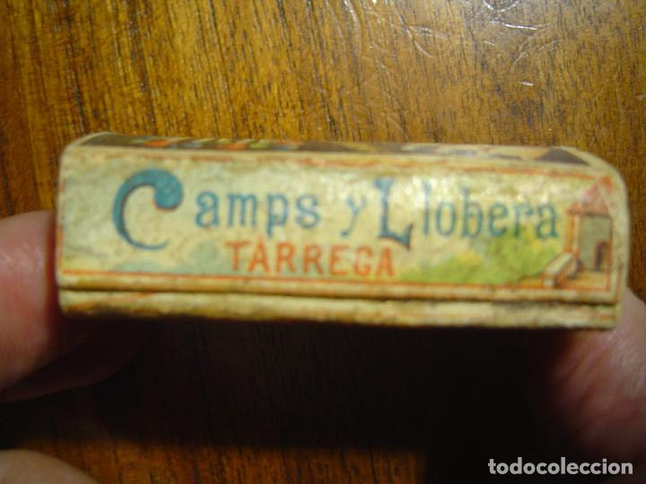 Cajas de Cerillas: PRECIOSA CAJA DE CERILLAS DEL SIGLO XIX - Completa Vacía - EL BAUL nº 9 CAMPS y LLOBERA - TARREGA - Foto 4 - 97083255