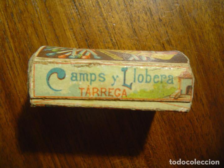 Cajas de Cerillas: PRECIOSA CAJA DE CERILLAS DEL SIGLO XIX - Completa - EL BAUL nº 9 - CAMPS y LLOBERA - TARREGA - Foto 3 - 97083607