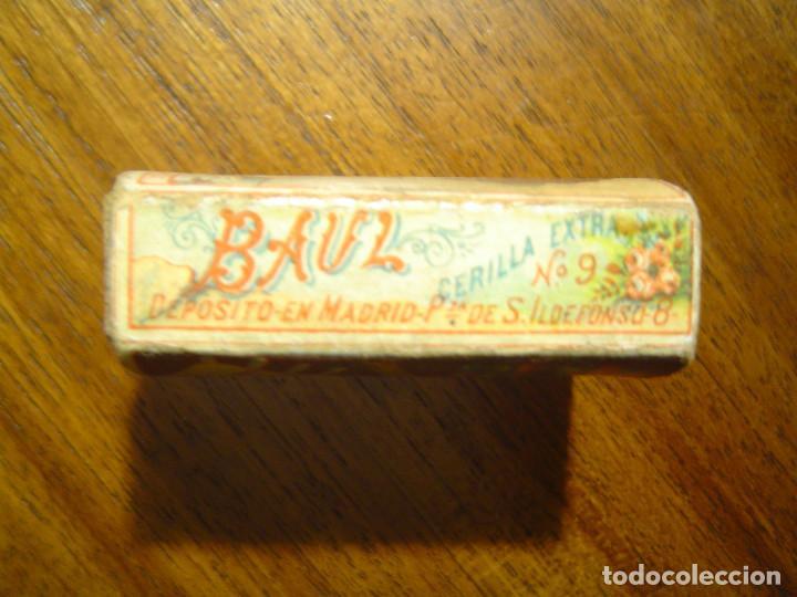 Cajas de Cerillas: PRECIOSA CAJA DE CERILLAS DEL SIGLO XIX - Completa - EL BAUL nº 9 - CAMPS y LLOBERA - TARREGA - Foto 4 - 97083607