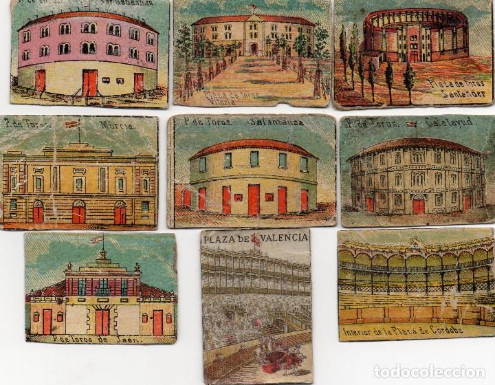 FRENTES CAJAS DE CERILLAS SIGLO XIX PLAZAS DE TOROS (Coleccionismo - Objetos para Fumar - Cajas de Cerillas)