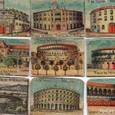 Cajas de Cerillas: FRENTES CAJAS DE CERILLAS SIGLO XIX PLAZAS DE TOROS. Lote 97179439