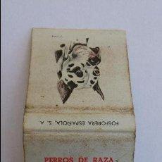 Cajas de Cerillas: CAJA DE CERILLAS DE PERROS DE RAZA ,DOGO ALEMAN, COMPLETA, 30 CENTIMOS. Lote 109317030