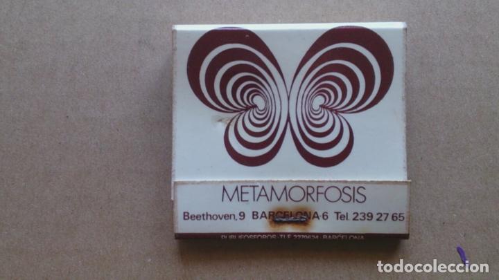 CAJA CERILLAS METAMORFOSIS DISCOTECA BARCELONA (Coleccionismo - Objetos para Fumar - Cajas de Cerillas)