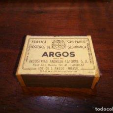 Cajas de Cerillas: CAJA CERILLAS ARGOS FOSFOROS SEGURANCA. Lote 97767783
