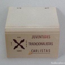 Cajas de Cerillas: CAJA DE CERILLAS JUVENTUDES TRADICIONALISTAS CARLISTAS, COMPLETA. Lote 97806491