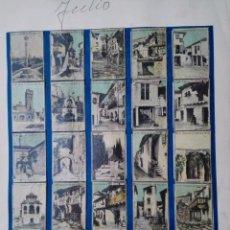 Cajas de Cerillas: COLECCION COMPLETA 35 FOTOTIPIAS O CROMOS CAJAS DE CERILLAS. PUEBLOS DE ESPAÑA SERIE 9. AÑOS 30/40. Lote 97983495