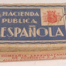 Cajas de Cerillas: BONITA Y ANTIGUA CAJA DE CERILLAS. HACIENDA PUBLICA. Lote 98359275
