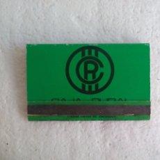 Cajas de Cerillas: CAJA RURAL. CAMINO A UN FUTURO MEJOR. CAJA DE CERILLAS MATCHBOX ALLUMETTES MATCHES. Lote 98506383