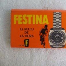 Cajas de Cerillas: FESTINA, EL RELOJ DE LA HORA.F. CAJA DE CERILLAS. MATCHBOX ALLUMETTES MATCHES. Lote 98507255