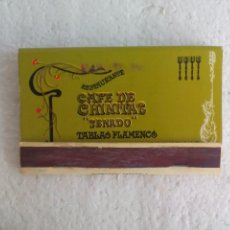 Cajas de Cerillas: CAFE CHINITAS SENADO. TABLAO FLAMENCO. MADRID. CAJA DE CERILLAS. MATCHBOX ALLUMETTES MATCHES. Lote 98507367
