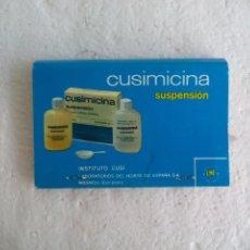 Cajas de Cerillas: CUSIMICINA. SUSPENSIÓN INSTITUTO CUSI. CAJA DE CERILLAS. MATCHBOX ALLUMETTES MATCHES. Lote 98507439