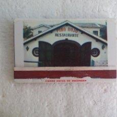 Cajas de Cerillas: PINO ROJO RESTAURANTE.CLUB, PIZZERIA EL PALO MÁLAGA CAJA DE CERILLAS. MATCHBOX ALLUMETTES MATCHES. Lote 98507683
