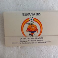 Cajas de Cerillas: MUNDIAL FUTBOL ESPAÑA 82. NARANJITO ALFABETO SORDOMUDO CAJA DE CERILLAS. MATCHBOX ALLUMETTES MATCHES. Lote 98508219