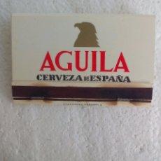 Cajas de Cerillas: AGUILA, CERVEZA DE ESPAÑA. DORADA. CAJA DE CERILLAS. MATCHBOX ALLUMETTES MATCHES. Lote 98508523