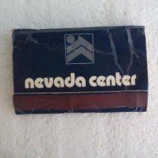Cajas de Cerillas: NEVADA CENTER. SIERRA NEVADA, GRANADA, MADRID, CAJA DE CERILLAS. MATCHBOX ALLUMETTES MATCHES. Lote 98508587