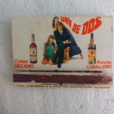 Cajas de Cerillas: PONCHE CABALLERO, COÑAC DECANO BODEGAS LUIS CABALLERO, CAJA DE CERILLAS. MATCHBOX ALLUMETTES MATCHES. Lote 98508727