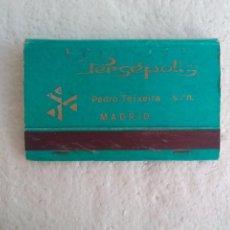Cajas de Cerillas: PERSEPOLIS MADRID. PEDRO TEIXEIRA S/N CAJA DE CERILLAS. MATCHBOX ALLUMETTES MATCHES. Lote 98508999