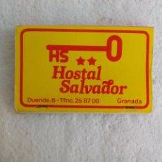 Cajas de Cerillas: RESTAURANTE CASA SALVADOR, HOSTAL. GRANADA CAJA DE CERILLAS. MATCHBOX ALLUMETTES MATCHES. Lote 98509191