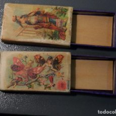 Cajas de Cerillas: X 2 ANTIGUA CAJA CERILLAS S.XIX, RIUNITE DI FIAMMIFERI, MILANO Nº19. Lote 98509899