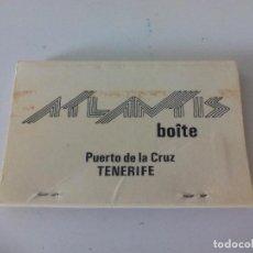 Cajas de Cerillas: ATLANTIS HOTEL. PUERTO DE LA CRUZ. TENERIFE. CAJA DE CERILLAS. MATCHBOX ALLUMETTES MATCHES. Lote 98521551