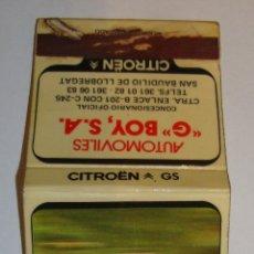 Cajas de Cerillas: (TC-45) CAJA CERILLAS CARTERITA VACIA CITROEN GS. Lote 98730359
