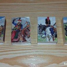 Cajas de Cerillas: 4 CAJAS DE CERILLAS TAMAÑO GRANDE,MOTIVOS NAPOLEONICOS.. Lote 99236451