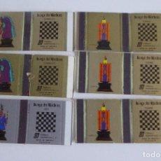 Cajas de Cerillas: 6 CAJAS DE CERILLAS EN PLANCHA - SERIE AJEDREZ VENEZUELA. Lote 99762547