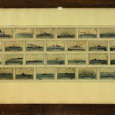 Cajas de Cerillas: COLECCIÓN DE 34 CUBIERTAS DE CERILLAS. BUQUES DE LA ARMADA ESPAÑOLA. ESPAÑA. 1931. Lote 101293739