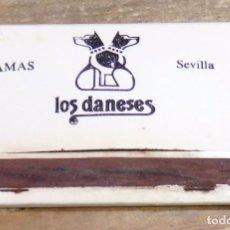 Cajas de Cerillas: SEVILLA, ANTIGUA CAJA DE CERILLAS LOS DANESES. Lote 102018611