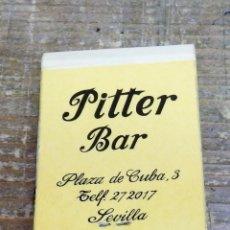 Cajas de Cerillas: SEVILLA, ANTIGUA CAJA DE CERILLAS CAFETERIA MILORD Y PITTER. Lote 102018787