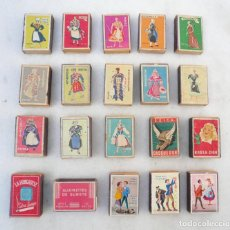 Cajas de Cerillas: CAJA DE CERILLAS. LOTE DE 20. SEITA, FRANCIA. CIRCA 1950. VACÍAS. VER DESCRIPCIÓN Y FOTOS. Lote 102436983