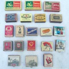 Cajas de Cerillas: CAJA DE CERILLAS.LOTE DE 20.INGLAT.,ALEMANIA,ITALIA Y PORTUGAL.CIRCA 1950-60.VACÍAS.VER DESCRIPCIÓN. Lote 102437679