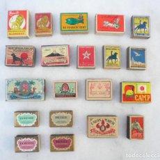 Cajas de Cerillas: CAJA DE CERILLAS. LOTE DE 20. MARRUECOS, ARGELIA, SUIZA Y BÉLGICA. CIRCA 1950. VACÍAS. VER DESCRIPCI. Lote 102437995
