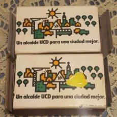 Cajas de Cerillas: LOTE DE 2 CAJAS DE CERILLAS DE LA UCD AÑOS 80. Lote 102649143