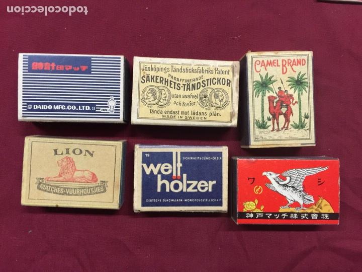 LOTE 6 CAJAS CERILLAS (Coleccionismo - Objetos para Fumar - Cajas de Cerillas)