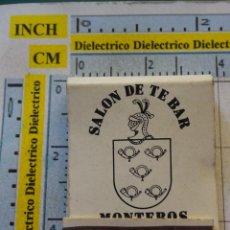 Matchboxes - CAJA CAJETILLA DE CERILLAS ANTIGUA. RESTAURANTES. RESTAURANTE BAR MONTEROS. TORREMOLINOS - 102984311