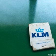 Cajas de Cerillas: CAJA DE CERILLAS DE LAS LÍNEAS AÉREAS KLM E IBERIA. Lote 103838392