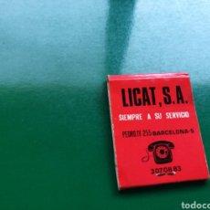 Cajas de Cerillas: CAJA DE CERILLAS DE SUPERMERCADO LICAT DE BARCELONA. Lote 103838600