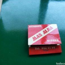 Cajas de Cerillas: CAJA DE CERILLAS DE RESTAURANTE MAS ALBA DE SITGES. Lote 103838840
