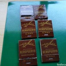 Cajas de Cerillas: LOTE DE 6 CAJAS DE CERILLAS DEL RESTAURANTE AEROPUERTO DE BARCELONA. Lote 103838898