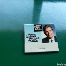 Cajas de Cerillas: RARA CAJA DE CERILLAS DE JOSEP MARÍA CULLELL. FUNDADOR DE CONVERGENCIA I UNIÓ. ELECCIONES CATALUÑA.. Lote 103839298