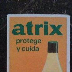 Cajas de Cerillas: COMO NUEVA Y COMPLETA . CAJA DE CERILLAS DE MADERA ATRIX . 10,5 X 6,5 CM . Lote 104101599