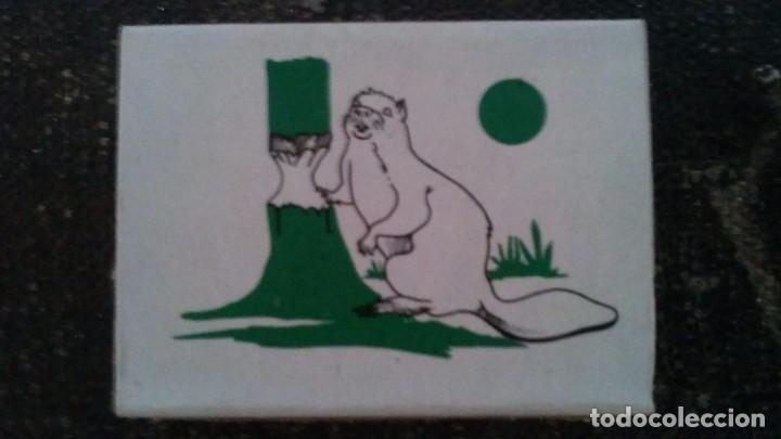 COMO NUEVA Y COMPLETA . CAJA DE CERILLAS ANIMALES DE FOSFORERA ESPAÑOLA. CASTOR . AÑOS 70 (Coleccionismo - Objetos para Fumar - Cajas de Cerillas)