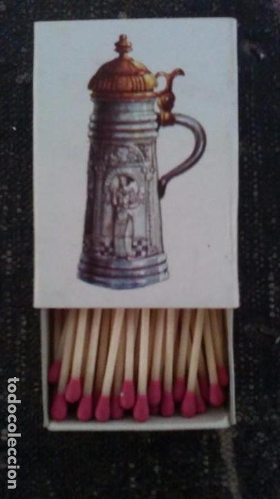 Cajas de Cerillas: Como nueva y completa . Caja de cerillas serie cerámica Alemana n° 1 de fosforera Española. Año 73 - Foto 2 - 104102571