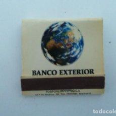 Cajas de Cerillas: CAJA DE CERILLAS. CARTERITA. BANCO EXTERIOR DE ESPAÑA. Lote 104613819